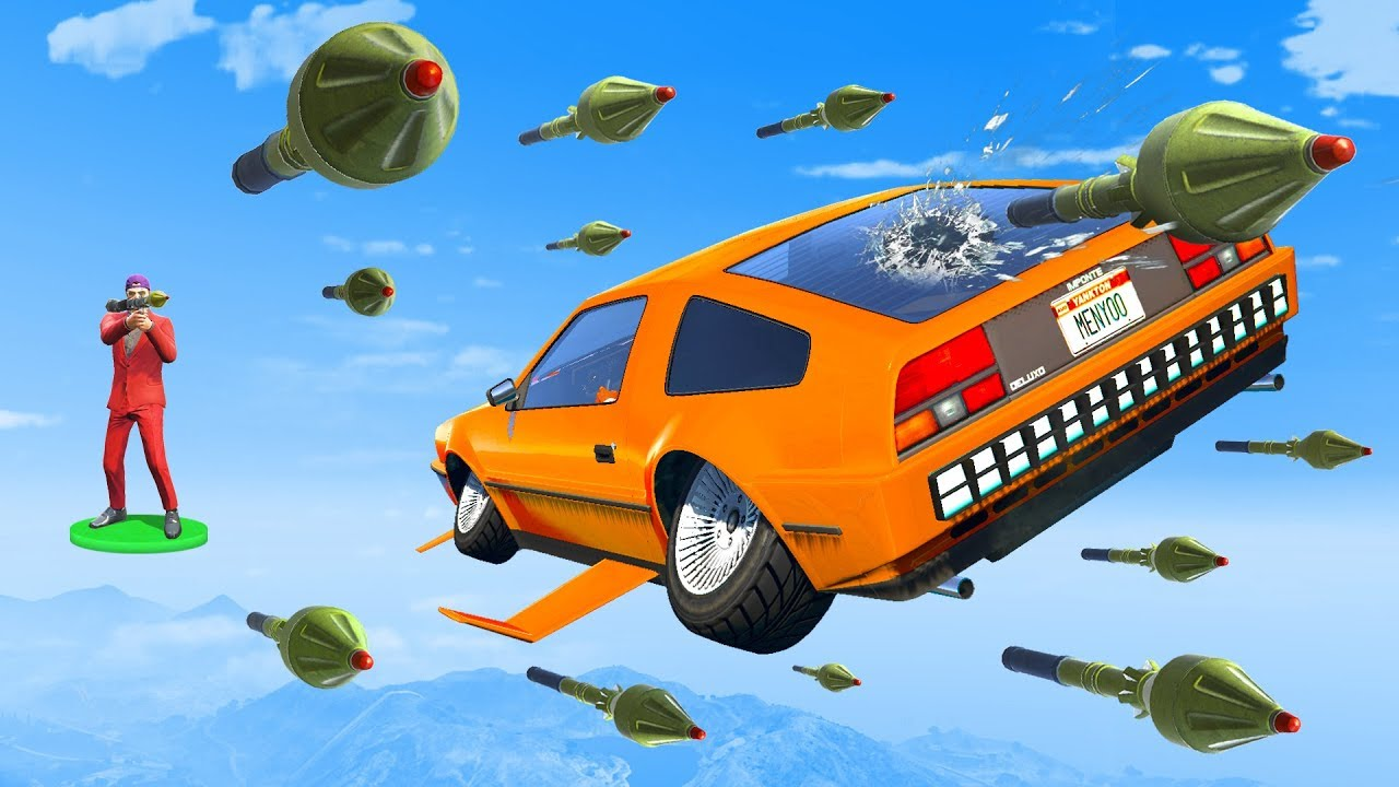 EXTREME RPG vs Flying Cars  GTA 5 Funny Moments  YouTube