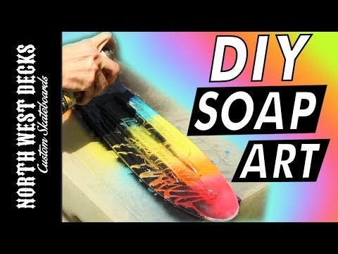 How To Soap Paint A Penny Board