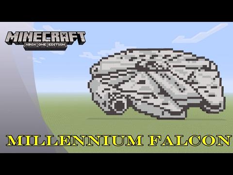 Minecraft: Pixel Art Tutorial and Showcase: Millennium Falcon (Star Wars)