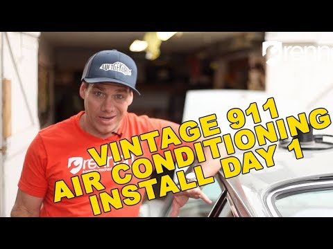 Vintage Porsche 911 Air Conditioning – Install Day 1 – DIY Porsche Repair