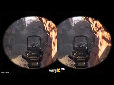 Call of Duty Black Ops III vr : vorpx + smartphone + moonlight + dk1 diy