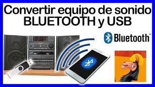 😲 Cómo ADAPTAR USB ®️ BLUETOOTH ✔️✔️ a Equipo de sonido ▶️FÁCIL◀️