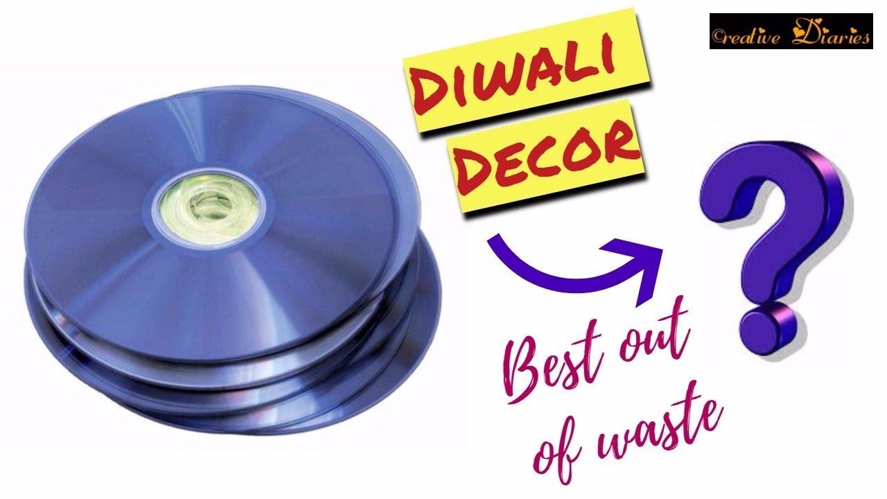 Diy Diwali Decor I How To Reuse Cds For Diwali Decoration