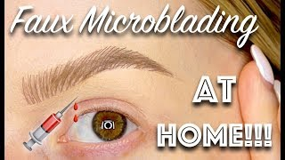 FAUX MICROBLADED BROWS AT HOME!!  ✨ Allison Wilburn MUA