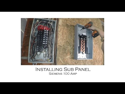how to install an electric sub panel and tie-in to adjacent main panel from  start to finish - youtube