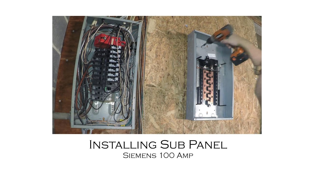 maxresdefault how to install an electric sub panel and tie in to adjacent main 100 amp sub panel wiring diagram at mifinder.co