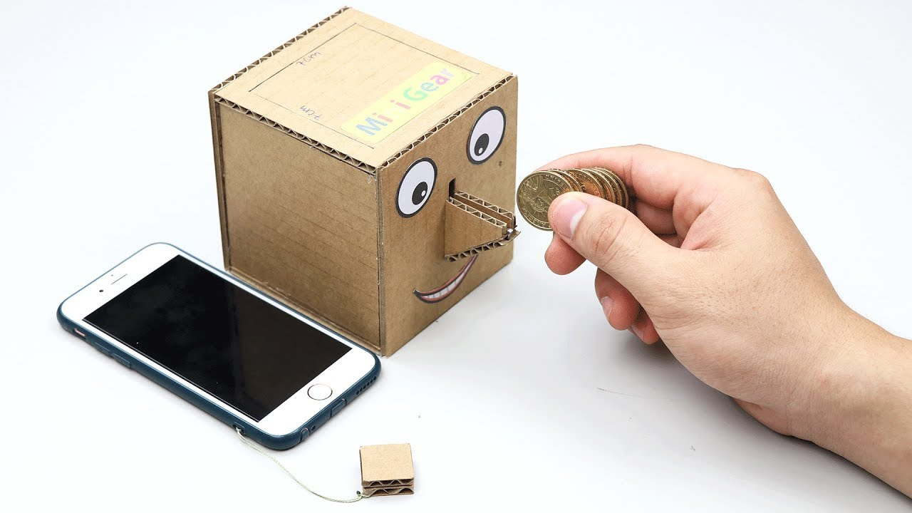 how to make coin bank box with smart key youtube