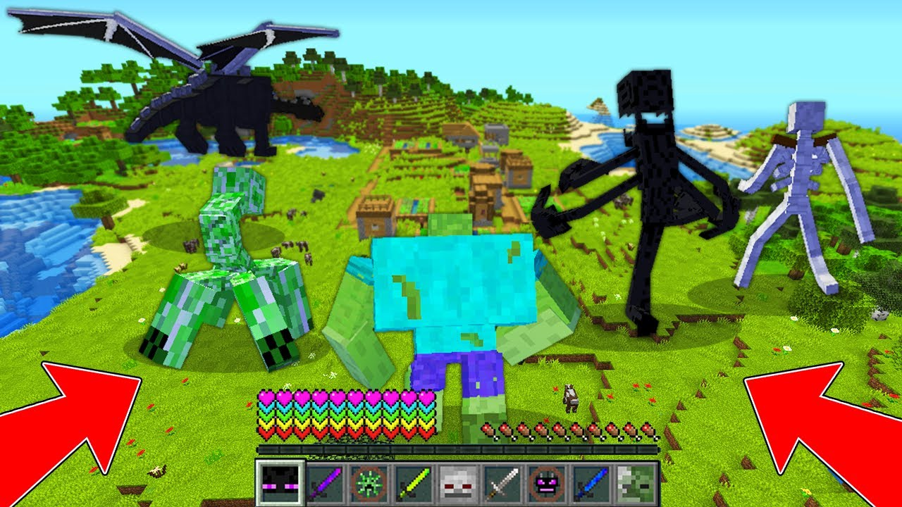 HOW to play VILLAGER ENDERMAN ,VILAGER GOLEM, ZOMBIE GIANT  Minecraft:GOLEM vs ZOMBIE! ALL EPISODES