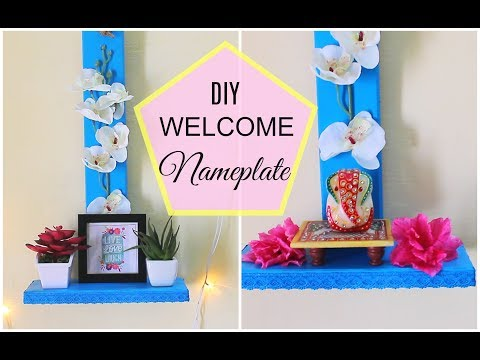 Latest Name Plate design / DIY Welcome Boards for Home Decor
