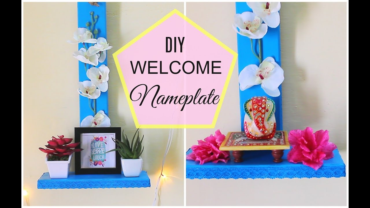 Latest Name Plate Design Diy Welcome Boards For Home Decor Youtube