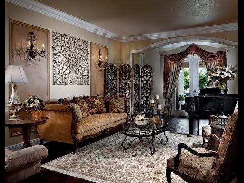 Стильный декор стен в зале