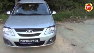 Накладки на фары (реснички) Lada Largus 2012- (russ-artel.ru)