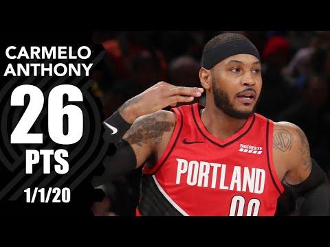 Carmelo Anthony scores 26 vs. Knicks at MSG | 2019-20 NBA Highlights