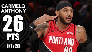 Carmelo Anthony scores 26 vs. Knicks at MSG | 2019-20 NBA Highlights