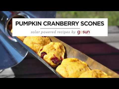 GoSun Pumpkin Scones: How-To Solar Oven Recipe Guide