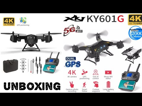 My First Drone KY601G 2000M 4K Range Unboxing
