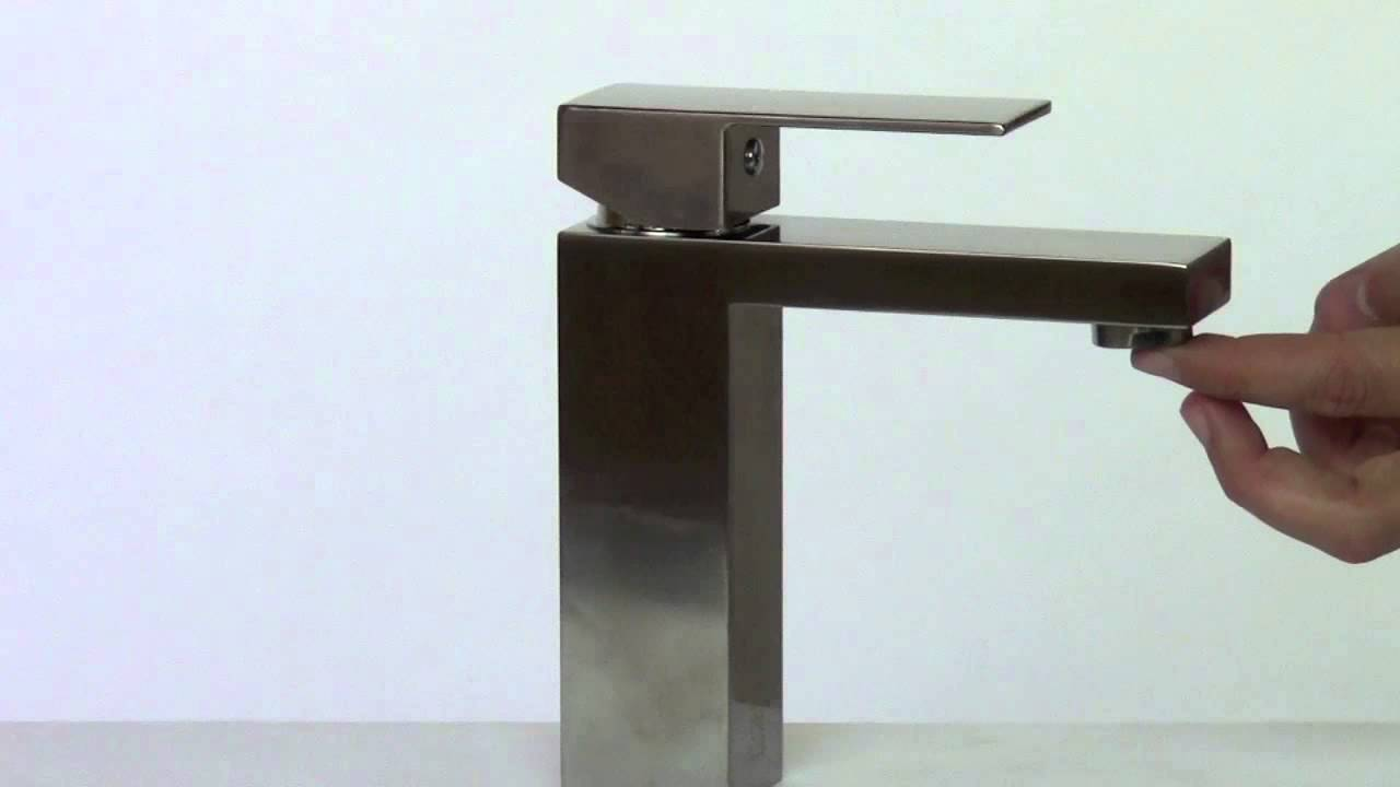 ALFI brand AB1229-BN Single Lever Square Bathroom Faucet In Brushed ...