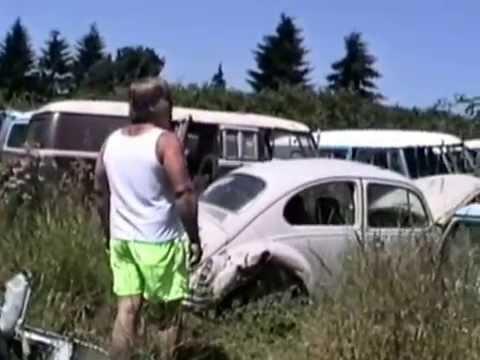Vintage VW Junkyard Longview WA 1991