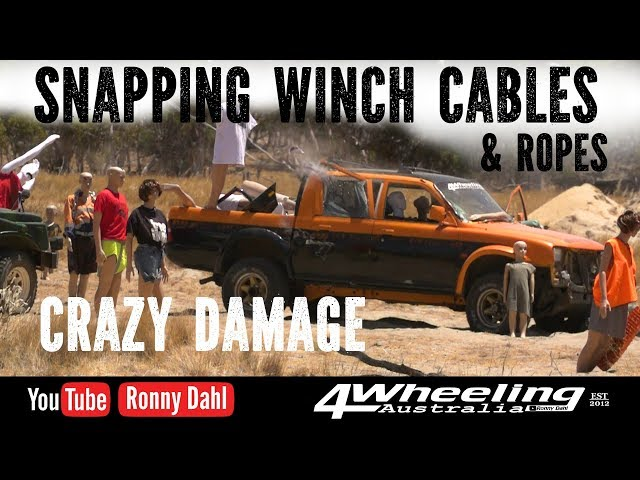 Mass Damage snapping winch Cables