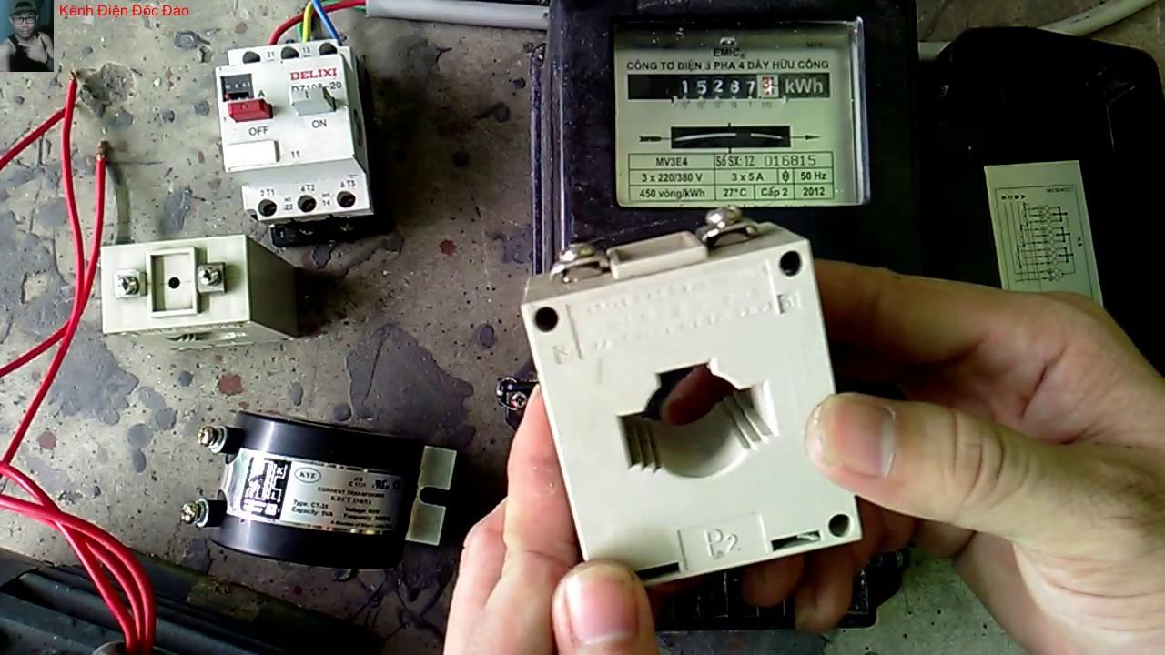 Kênh Điện Độc Đáo - hướng dẫn đấu công tơ điện 3 pha 4 dây đo gián tiếp