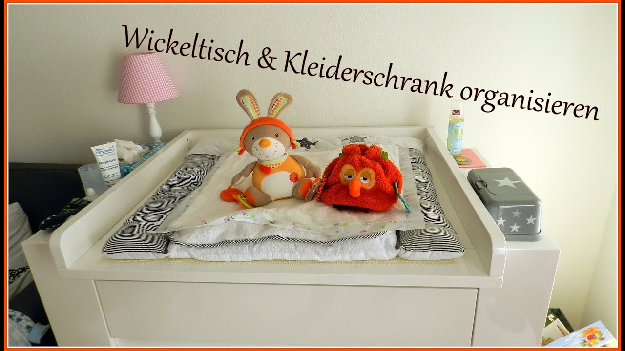 wickeltisch und kleiderschrank neu organisieren gabelschereblog youtube. Black Bedroom Furniture Sets. Home Design Ideas