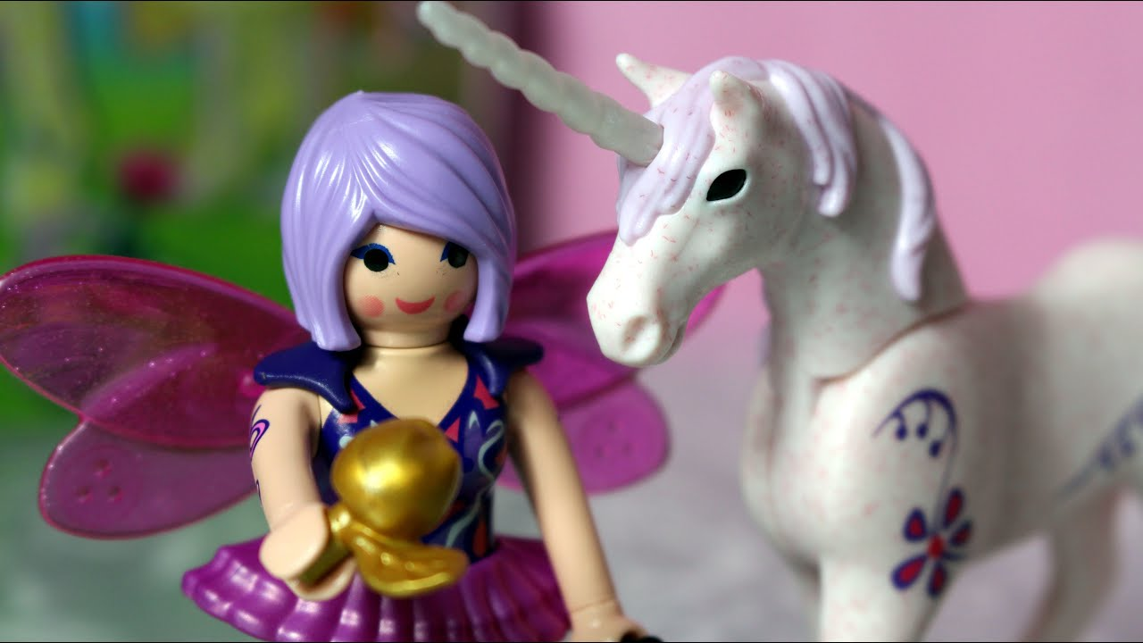 playmobil  faires 5440  food fairy with unicorn morning