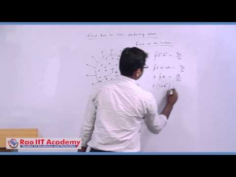 Gauss Law and its Applications - IIT JEE Main and Advanced Physics Video Lecture [RAO IIT ACADEMY]