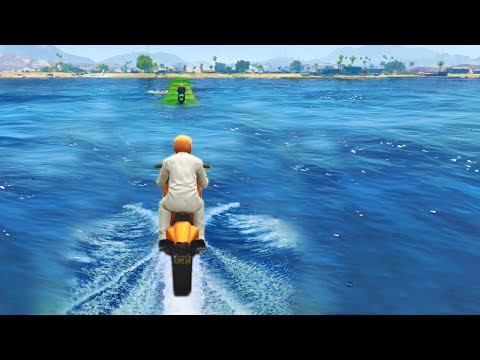 Driving On Water (GTA 5 Funny Moments)