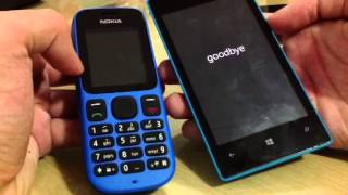 Nokia 100 vs Lumia 520-Boot race