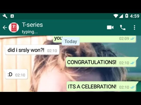 Congratulations But Its Played On Chat   PewDiePie Chats With T-series