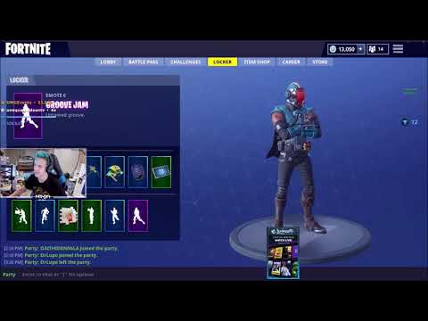 Ninja Unlocks & Reacts to the Blockbuster Skin (The Visitor)