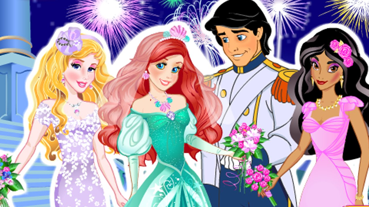 Mermaid Ariel Princess Eric Wedding Cute Baby Games YouTube