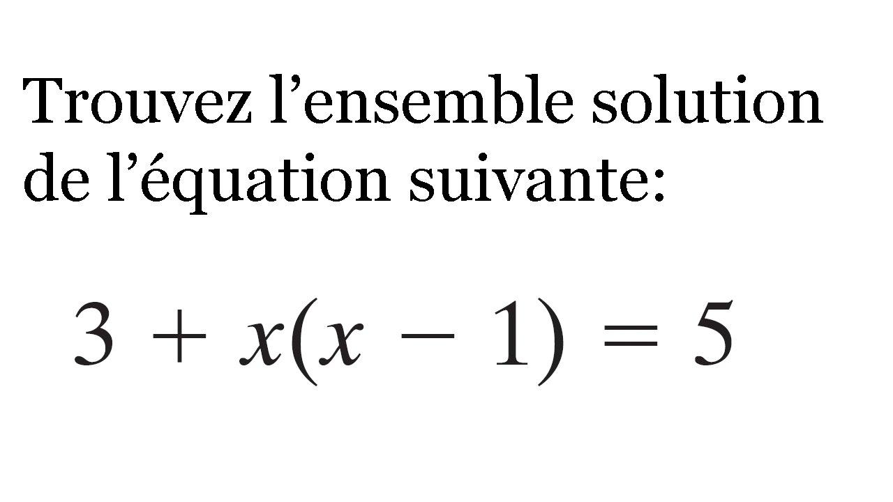 Beliebt Exercice - Résoudre équation quadratique - Mathématiques  EP37