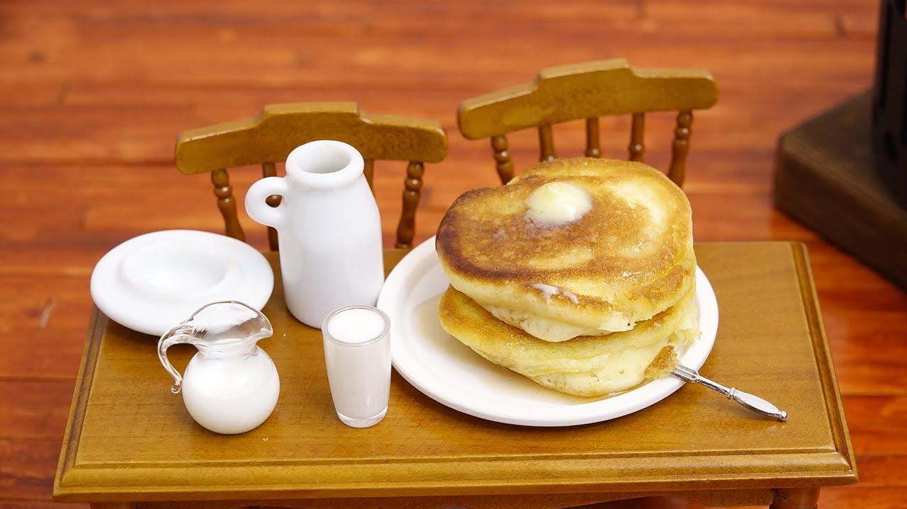 Mini Food Pancake 食べれるミニチュア ホットケーキ Youtube