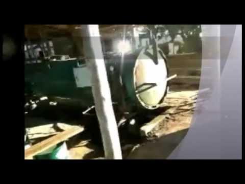 Autoclave usada para tratamento de madeira