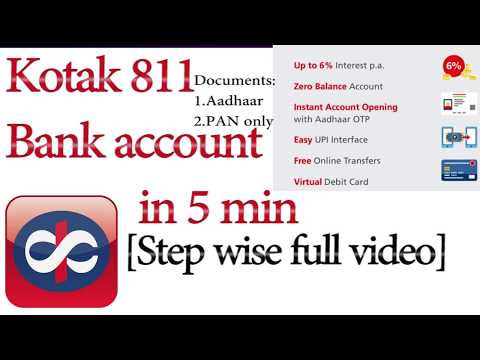 New Bank Account In 5 Minutes Online Kotak 811 With Atm Card