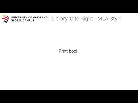 How to Cite a Book in MLA style  - Cite Right Tutorial