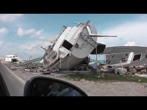 drive thru Marigot to Sandy Ground Saint Martin - 35 days after hurricane Irma