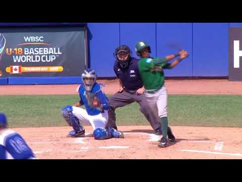Highlights: South Africa v Italy - WBSC U-18 Baseball World Cup 2017