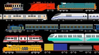 Trains - Book Version - Railway Vehicles - The Kids' Picture Show (Fun & Educational Learning Video)