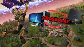 Giocare con amici di altre console ! Fortnite cross-play| Giocare da pc con player Ps4 e Xbox One
