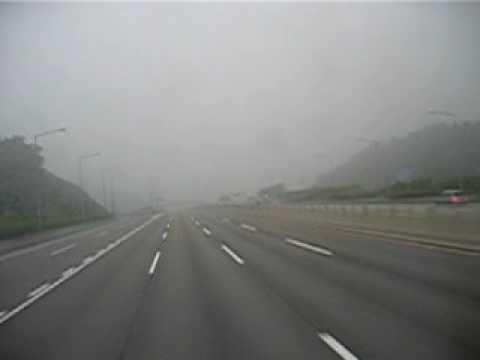 Incheon to Seoul Foggy Bus.AVI
