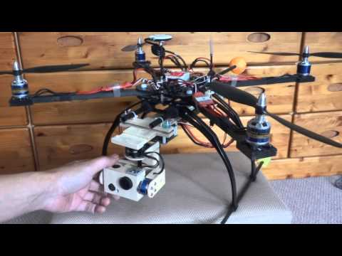 DIY 3-axis brushless gimbal for Gopro Hero3.Not Alex Mos.