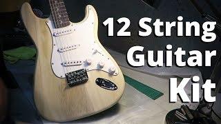 Building a £75 12 String Stratocaster DIY Guitar Kit Resimi