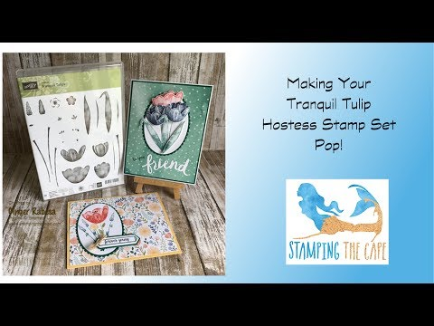 Tranquil Tulip 3-D Card