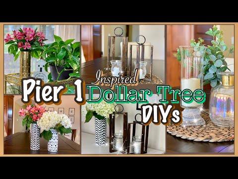 Pier 1 Inspired Dollar Tree DIY Room Decor