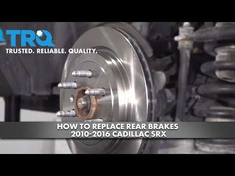 How To Replace Rear Brakes 2010-16 Cadillac SRX