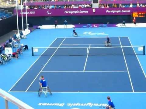 #LONDON2012 Wheelchair Tennis - 37 Shot Rally!!!