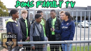 DONS FAMILY TV - London Cup Pre Match