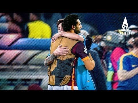 When Lionel Messi  and Mohamed Salah met for the first time ● عندما التقى ميسي ومحمد صلاح لأول مرة